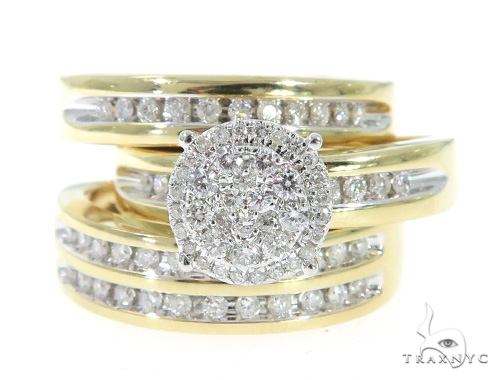 Prong Diamond  Engagement Ring Couple Set 49387 Engagement