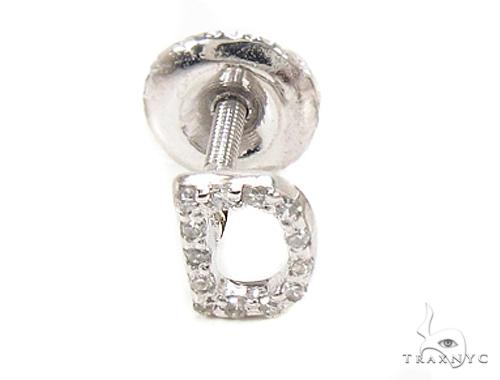 Prong Diamond  Initial 'D' Single Earring 49518 Stone