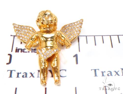 Small Prong Diamond Angel Pendant 35222 Metal