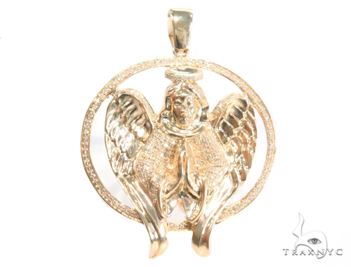 Prong Diamond Angel Pendant 45122 Metal