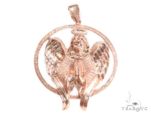 Prong Diamond Angel Pendant 45123 Metal