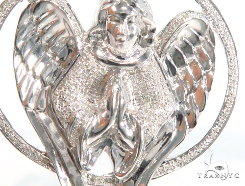 Prong Diamond Angel Pendant 45124 Metal