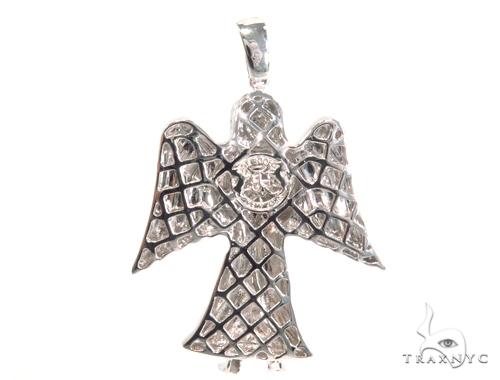 Prong Diamond Angel Pendant 45181 Metal
