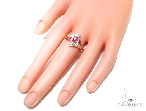 Light Pink Ruby & Diamond Anniversary/Fashion Ring 41821 Anniversary/Fashion
