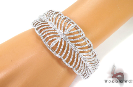 Prong Diamond Bangle Bracelet 32188 Bangle