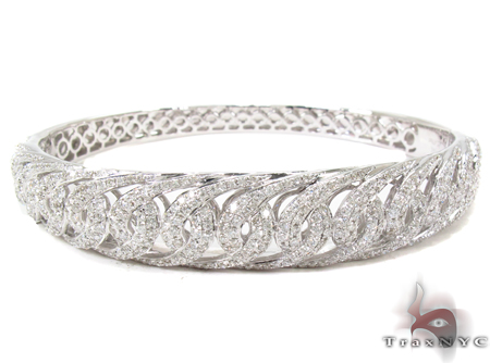 Prong Diamond Bangle Bracelet 32194 Bangle