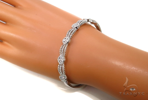 Prong Diamond Bangle Bracelet 38001 Bangle