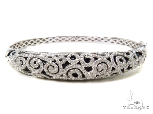 Prong Diamond Bangle Bracelet 38027 Bangle