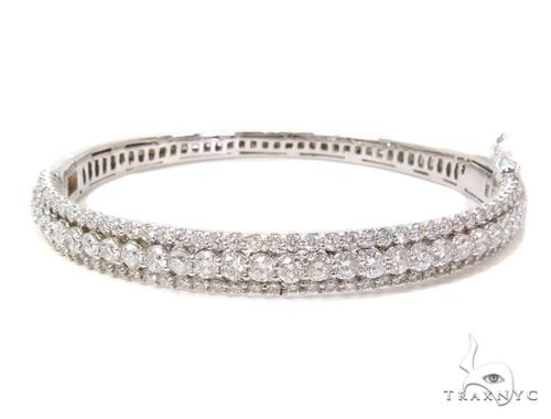 Prong Diamond Bangle Bracelet 40682 Bangle