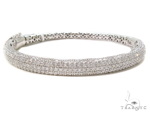 Prong Diamond Bangle Bracelet 40710 Bangle