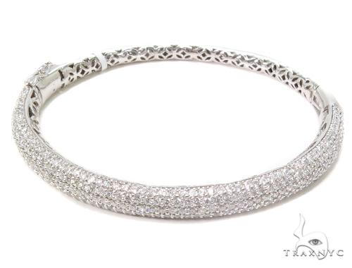 Prong Diamond Bangle Bracelet 40710 Bangle