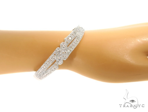 Prong Diamond Bangle Bracelet 56492 Diamond