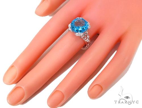 Prong Diamond Blue Topaz Ring 39514 Anniversary/Fashion