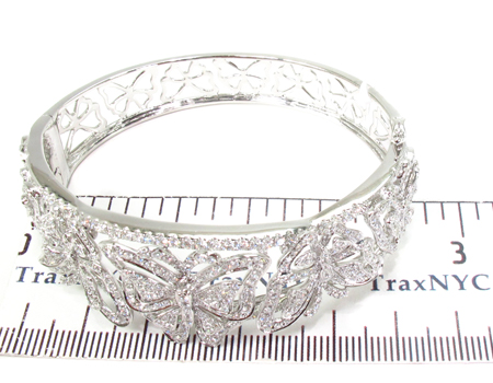 Prong Diamond Bracelet 32072 Bangle