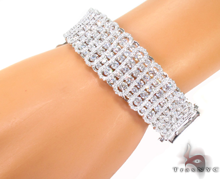 Prong Diamond Bracelet 32073 Bangle