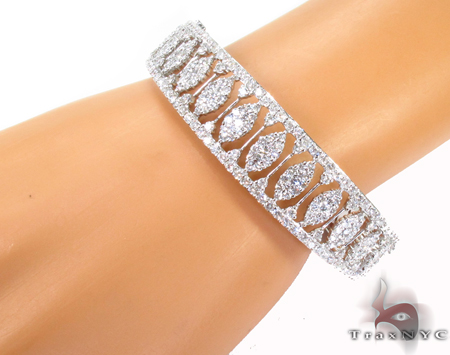 Prong Diamond Bracelet 32075 Bangle