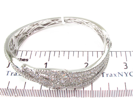 Prong Diamond Bracelet 32079 Bangle