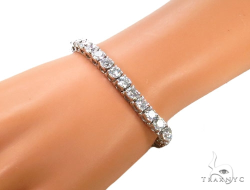 Prong Diamond Bracelet 39773 Tennis