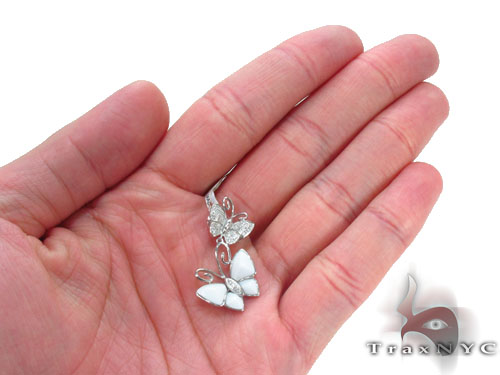 Prong Diamond Butterfly Pendant 34512 Stone