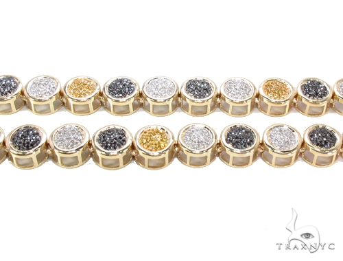 Multicolor Diamond Chain 32 Inches 8mm 57.6 Grams Diamond