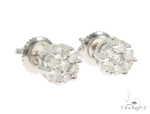 Prong Diamond Earrings 44335 Stone
