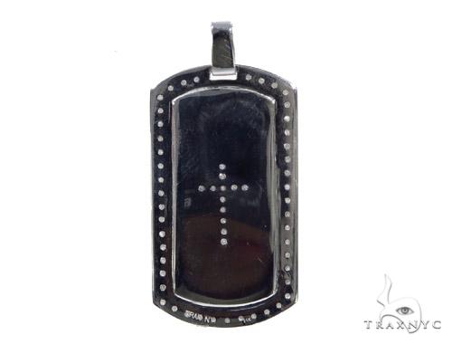 Prong Diamond Cross Dog Tag 44894 Metal