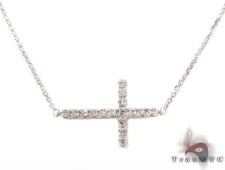 Prong Diamond Cross Necklace 32010 Diamond Cross Pendants