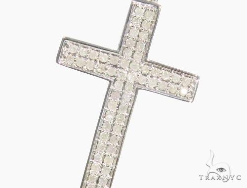 Prong Diamond Cross Necklace 44309 Diamond Cross Pendants