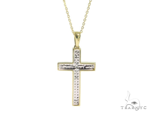 Prong Diamond Cross Necklace 44310 Diamond Cross Pendants
