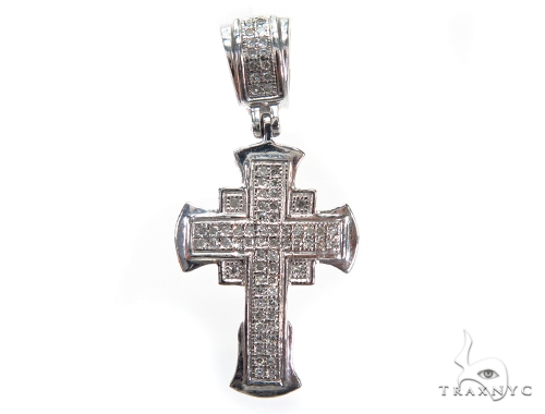 Prong Diamond Cross Pendant 41926 Diamond Cross Pendants