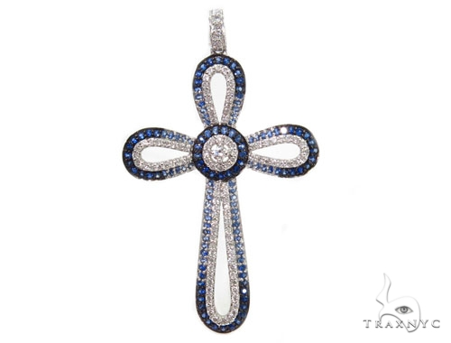 Prong Diamond Cross Crucifix Pendants 40230 ダイヤモンド クロス