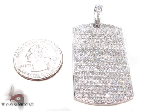 Prong Diamond Dog Tag Style