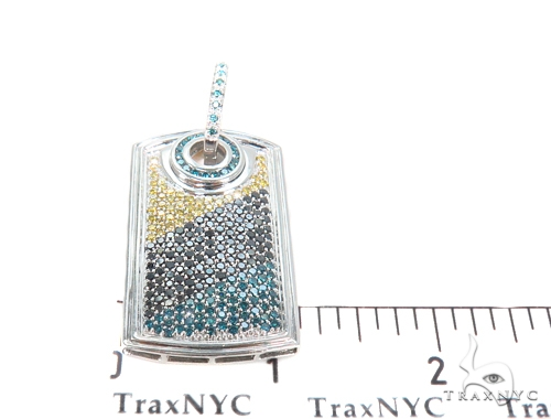 Prong Diamond Dog Tag Pendant 44086 Metal
