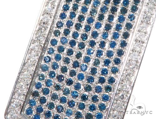 Prong Diamond Dog Tag Pendant 44901 Metal