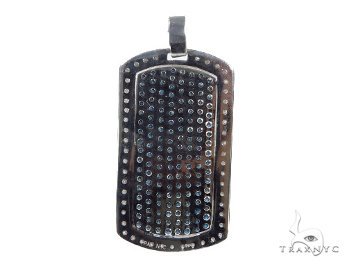 Prong Diamond Dog Tag Pendant 44901 Metal
