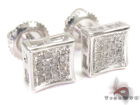 Prong Diamond Earrings 26973 Metal