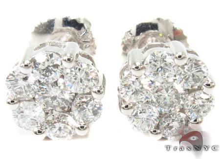 Prong Diamond Earrings 29009 Stone