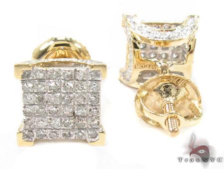 Prong Diamond Earrings 32057 Stone