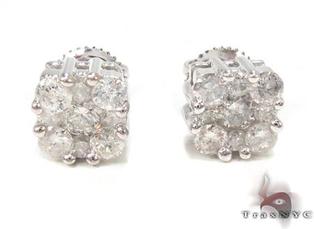 Prong Diamond Earrings 32971 Stone