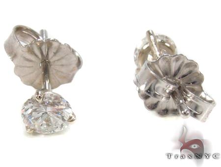Prong Diamond Earrings 33145 Stone