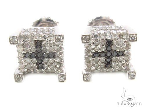 Prong Diamond Earrings 35294 Stone