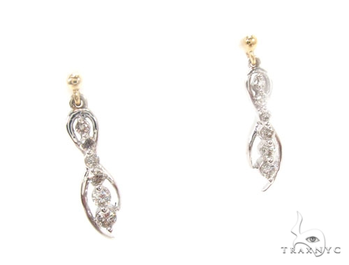 Prong Diamond Earrings 35435 Stone