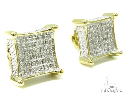 Prong Diamond Earrings 37658 Stone
