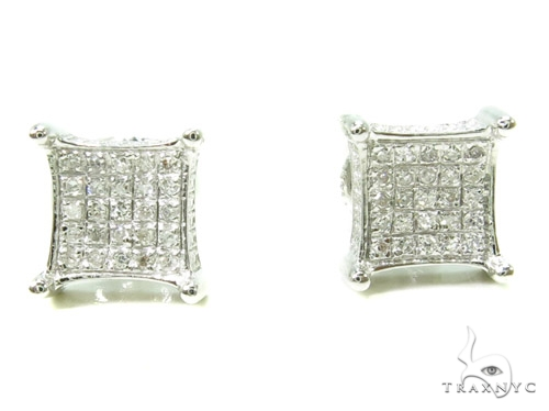 Prong Diamond Earrings 37662 Stone