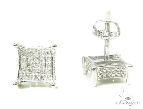 Prong Diamond Earrings 37662 Stone