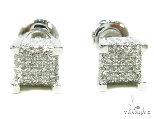 Prong Diamond Earrings 37802 Stone