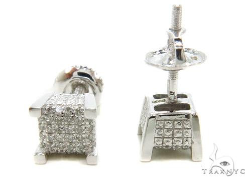 Prong Diamond Earrings 37802 Stone