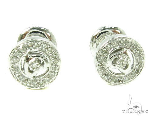 Prong Diamond Earrings 37803 Stone