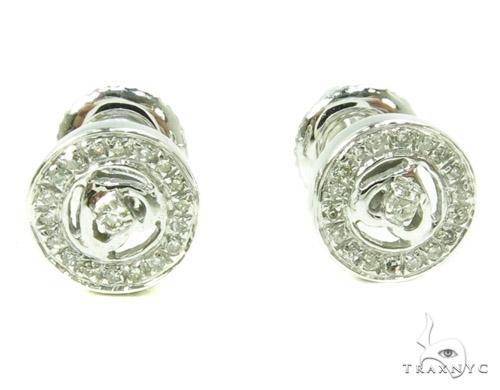 Prong Diamond Earrings 37803 Stone