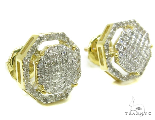 Prong Diamond Earrings 37807 Stone